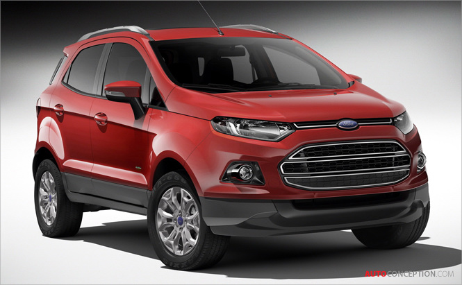 Ford Reveals Quartet Of New Vehicles Mondeo Ecosport Suv Tourneo Connect Mpv And Transit Van