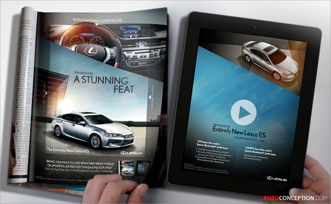 New CinePrint™ Technology Puts Lexus Sports Illustrated Print Ad in Motion