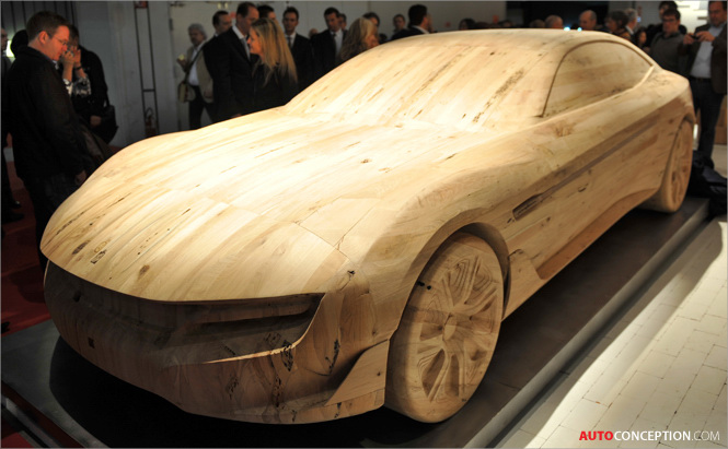 Pininfarina Exhibits Car Made Entirely from Wood