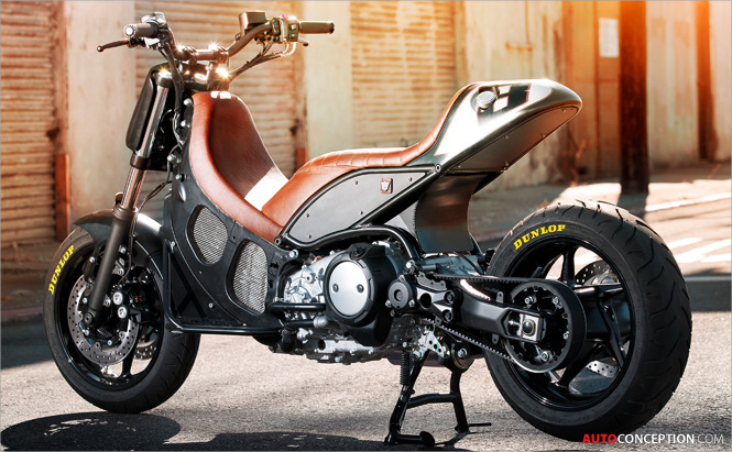 Roland Sands Hyper-Modified TMAX Scooter Design