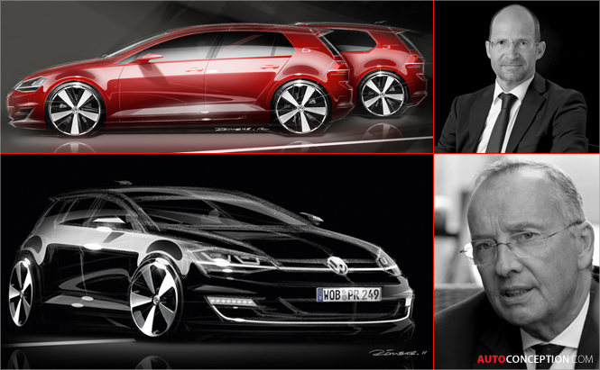 Video Interview: Volkswagen Head Designers Walter de Silva and Klaus Bischoff Discuss the New Golf