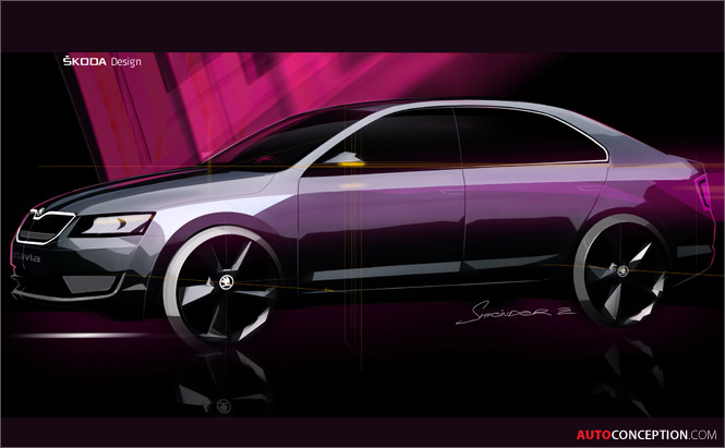 SKODA Octavia Design Sketches