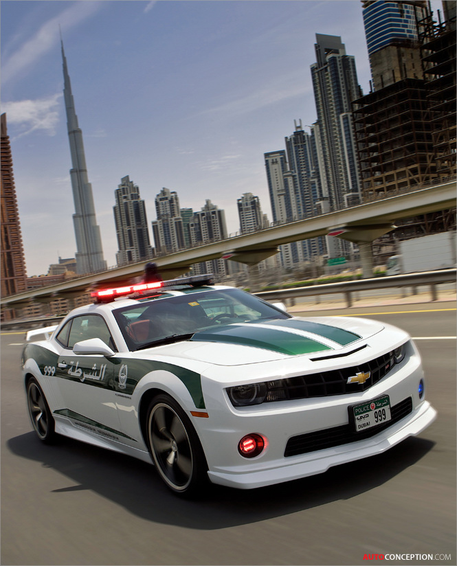 Dubai Police Force Gets Chevy Camaro SS Muscle Car