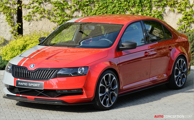 Volkswagen Golf 'Design Vision GTI' and SKODA 'Rapid SPORT' Concepts Revealed at Wörthersee