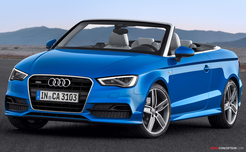 all new audi a3 cabriolet revealed. Black Bedroom Furniture Sets. Home Design Ideas