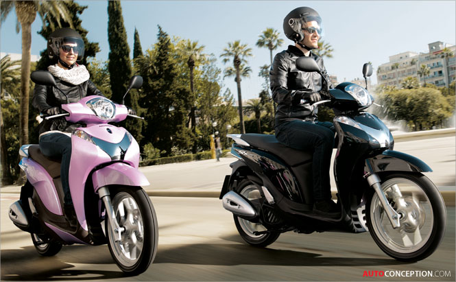 Honda Adds New Scooter Design to SH Family