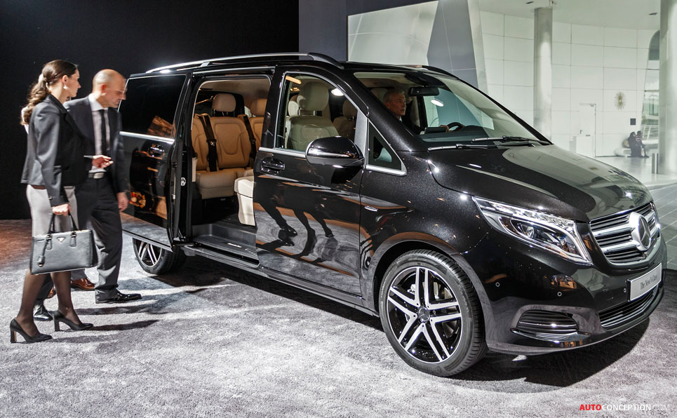 mercedes reveals new v class mpv. Black Bedroom Furniture Sets. Home Design Ideas