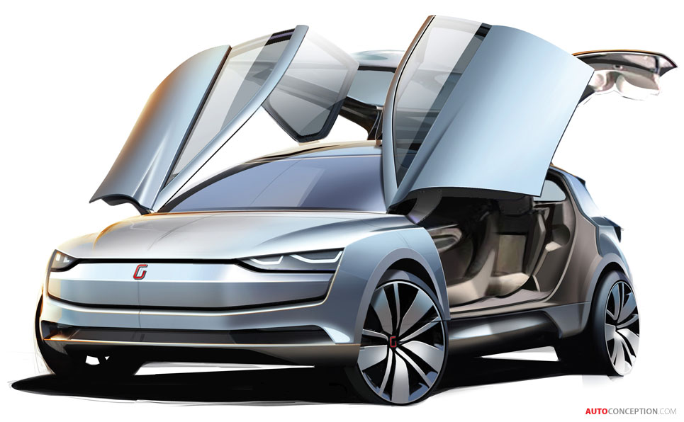 All-Electric 'Clipper' MPV Concept by Italdesign Giugiaro Displayed in Geneva