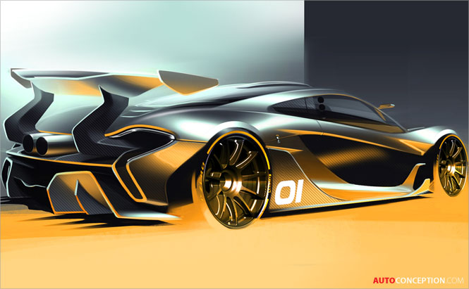 McLaren P1 GTR Concept Previewed Ahead of Pebble Beach Debut