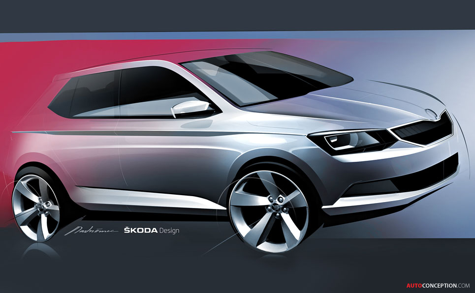 SKODA Releases Teaser Sketch of New Fabia