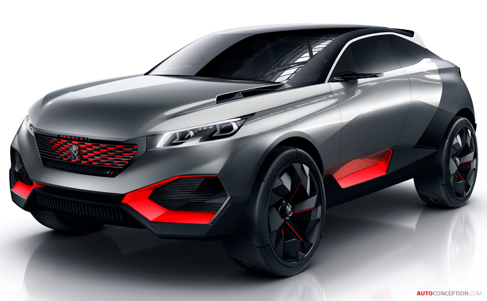 Peugeot Reveals New Hybrid SUV Concept - AutoConception.com