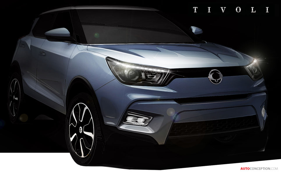 new ssangyong crossover to be called tivoli. Black Bedroom Furniture Sets. Home Design Ideas