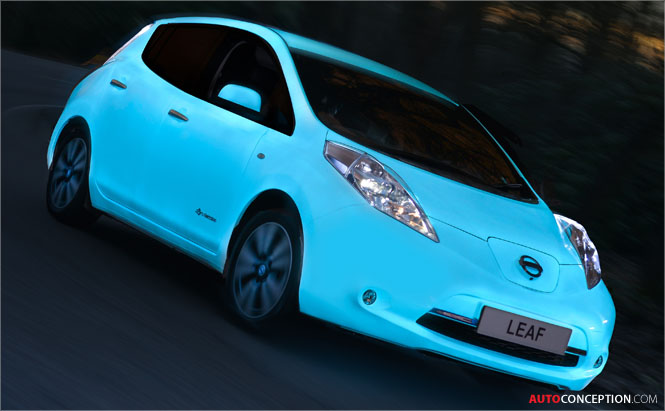 Nissan Becomes First Car Maker to Apply Glow-in-the-Dark Car Paint