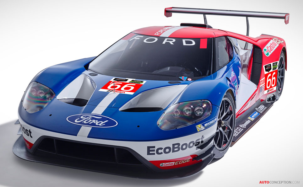 ford gt to race at le mans in 2016. Black Bedroom Furniture Sets. Home Design Ideas