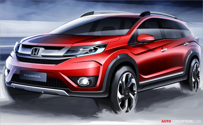 Honda Unveils First Design Sketches of All-New BR-V Prototype