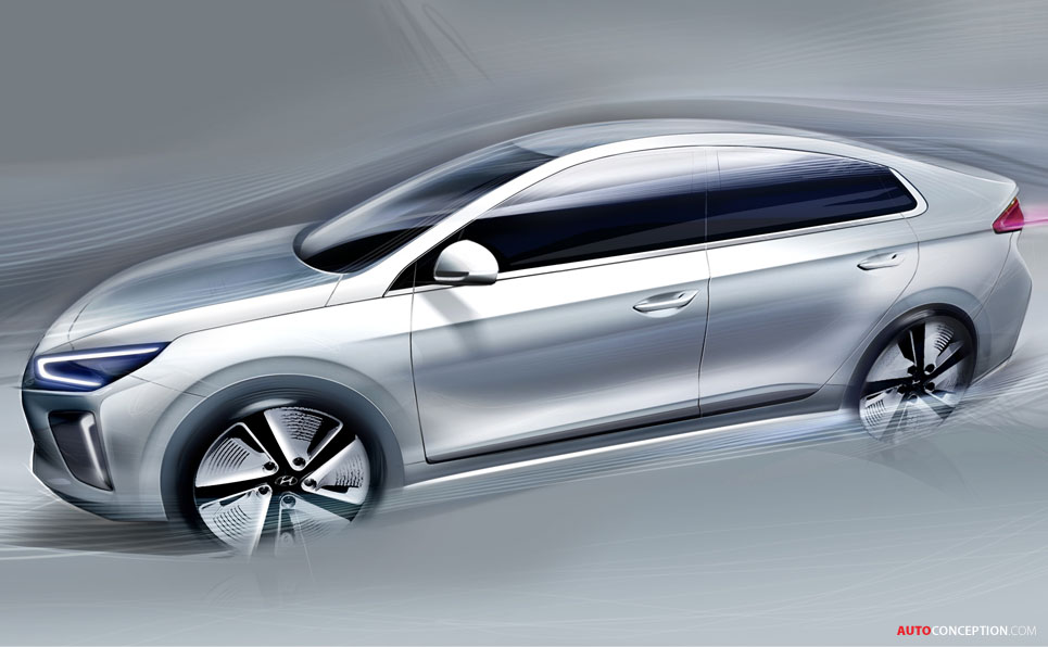 Hyundai Reveals Teaser Rendering of New IONIQ