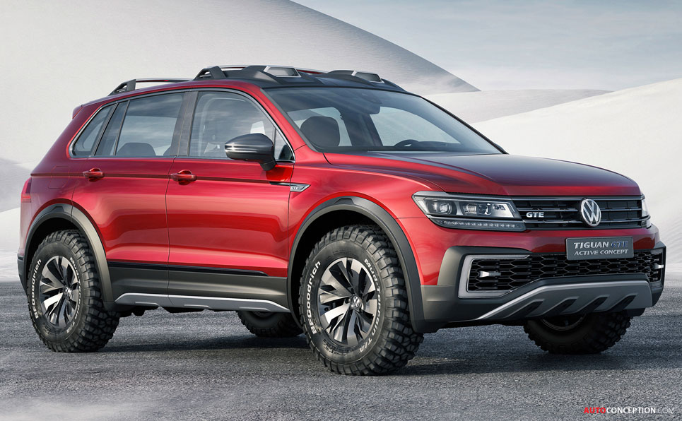 volkswagen tiguan gte active concept previews a new generation of suvs. Black Bedroom Furniture Sets. Home Design Ideas