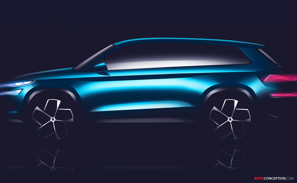 SKODA VisionS Concept Revealed Ahead of Geneva Debut