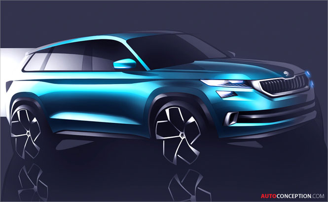 SKODA VisionS Concept Previews New SUV