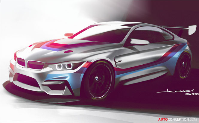 BMW Releases First Sketch of New M4 GT4 Racing Car