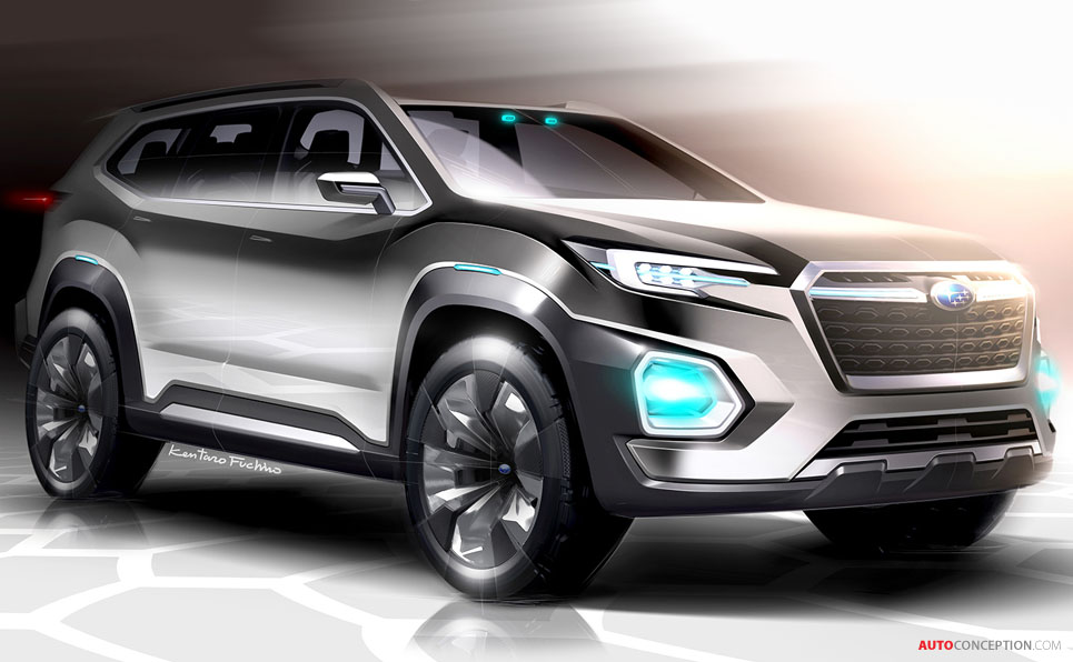 subaru viziv 7 suv concept revealed at la auto show. Black Bedroom Furniture Sets. Home Design Ideas
