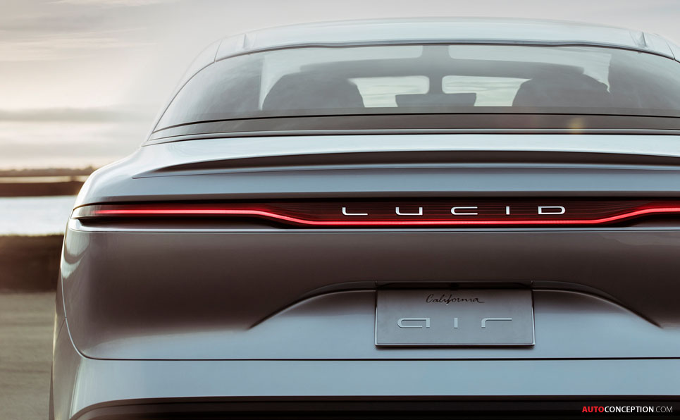 lucid motors air electric car unveiled   autoconception
