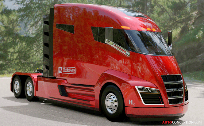 Nikola Motor Company Reveals Hydrogen-Powered Truck