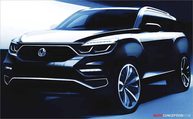 SsangYong Teases New Flagship SUV Ahead of Seoul Motor Show