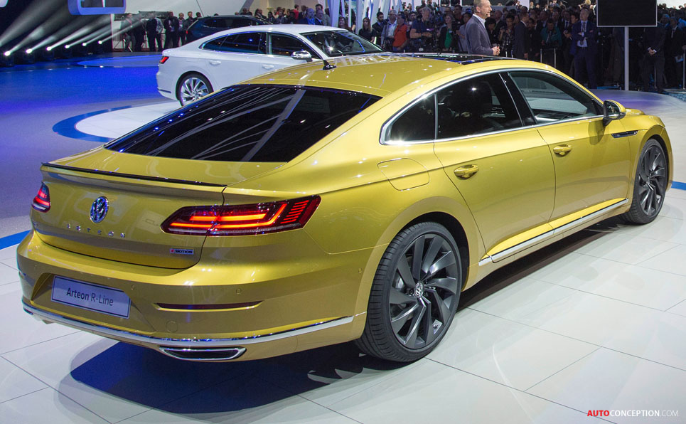 new volkswagen arteon officially unveiled. Black Bedroom Furniture Sets. Home Design Ideas