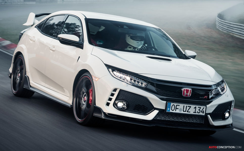 Front Wheel Drive Cars >> 2017 Honda Civic Type R Sets New Nurburgring Lap Record For