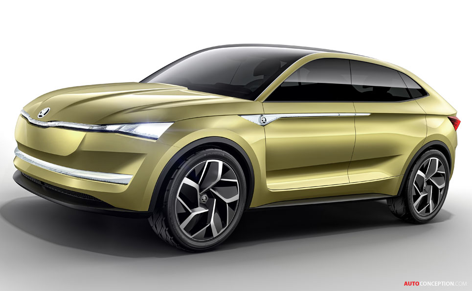 skoda vision e electric concept car unveiled in shanghai. Black Bedroom Furniture Sets. Home Design Ideas