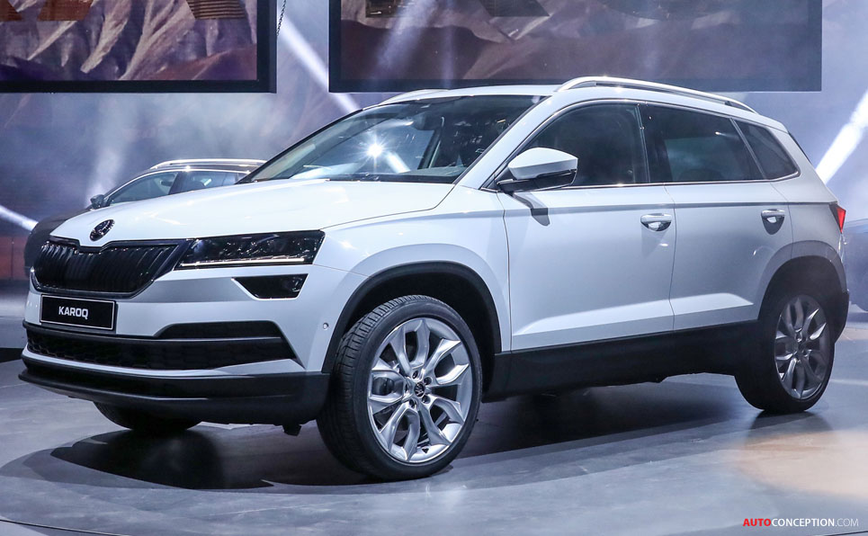 new skoda karoq suv revealed. Black Bedroom Furniture Sets. Home Design Ideas