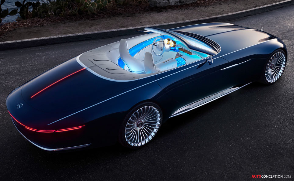 vision mercedes maybach 6 cabriolet revealed at pebble beach. Black Bedroom Furniture Sets. Home Design Ideas