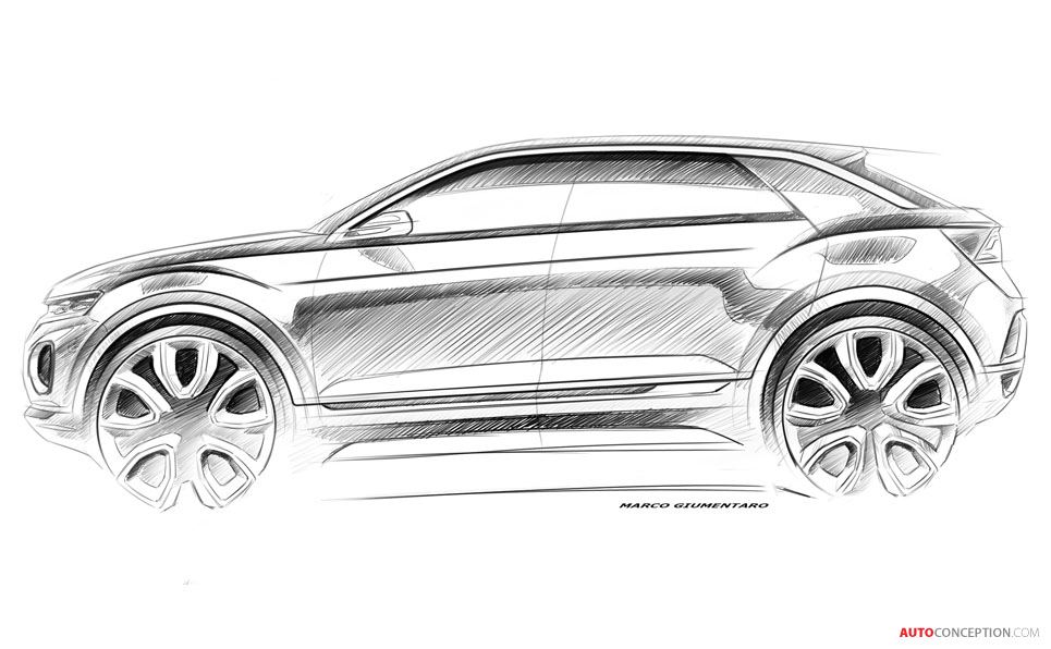 Volkswagen Releases T-Roc Design Sketches Ahead of Official Reveal