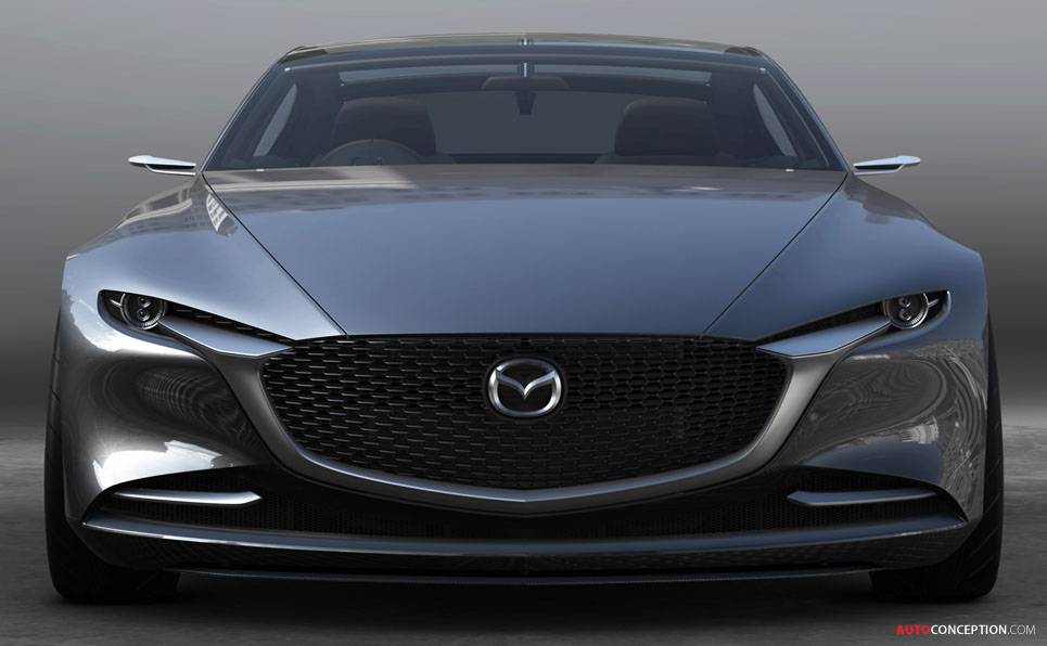 mazda vision coupe concept car wows crowds at tokyo