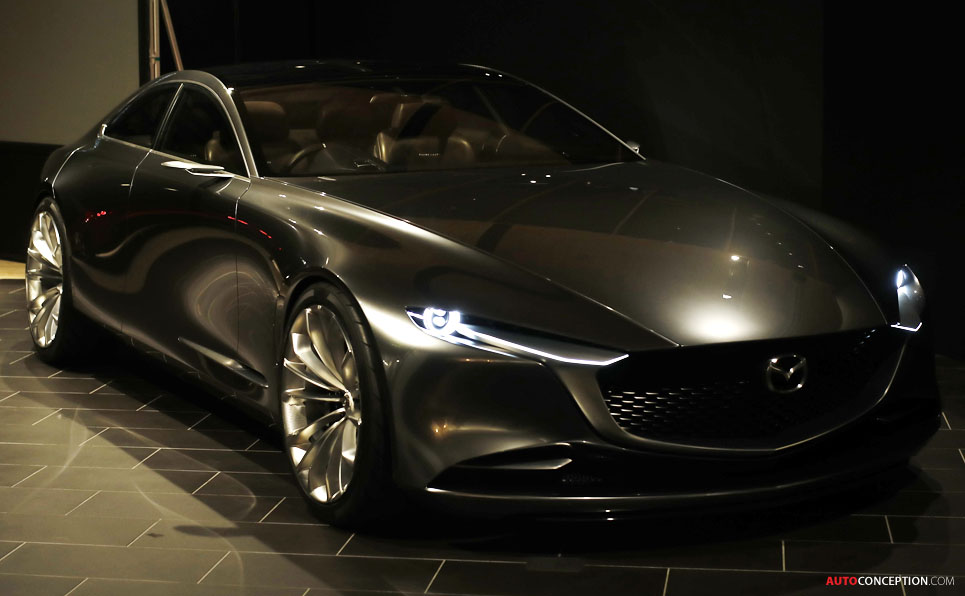 Exhibition Stand Car : Mazda 'vision coupe concept car wows crowds at tokyo