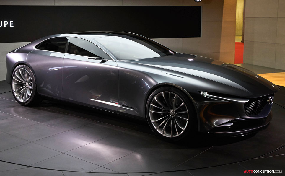 mazda vision coupe concept car wows crowds at tokyo motor show. Black Bedroom Furniture Sets. Home Design Ideas