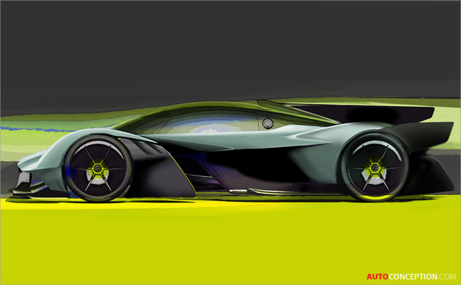 Aston Martin Valkyrie AMR Pro Track Car – First Sketches Revealed