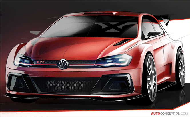 Volkswagen Reveals Teaser Sketch of New Polo GTI R5 Rally Car