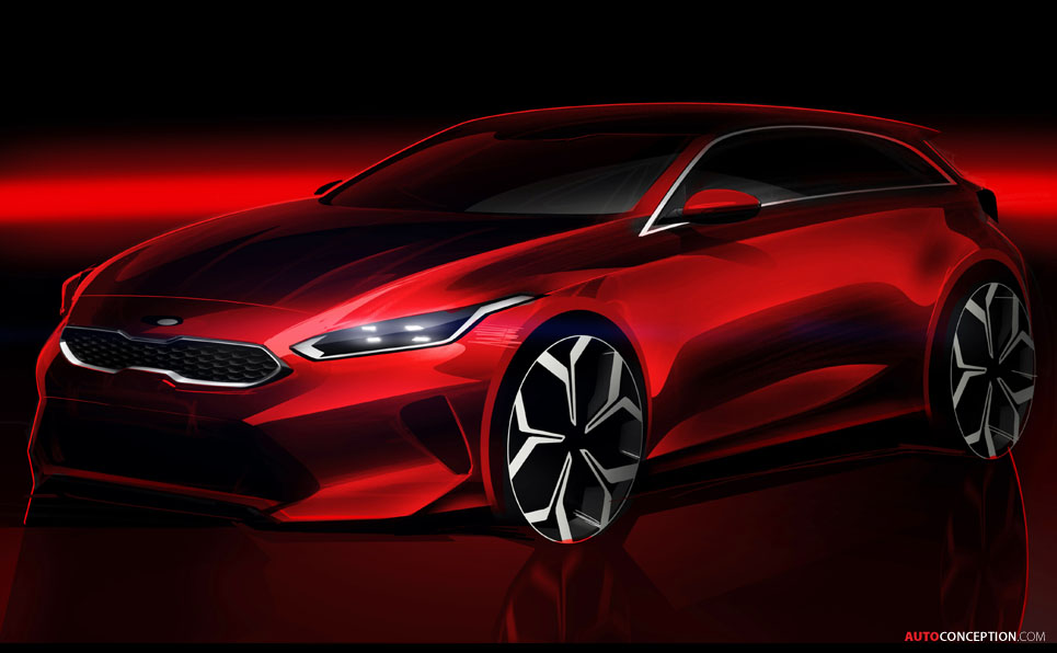 Kia Releases First Sketch of 2018 Ceed Hatchback