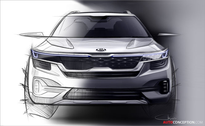 Kia Reveals First Design Sketches of New Small SUV