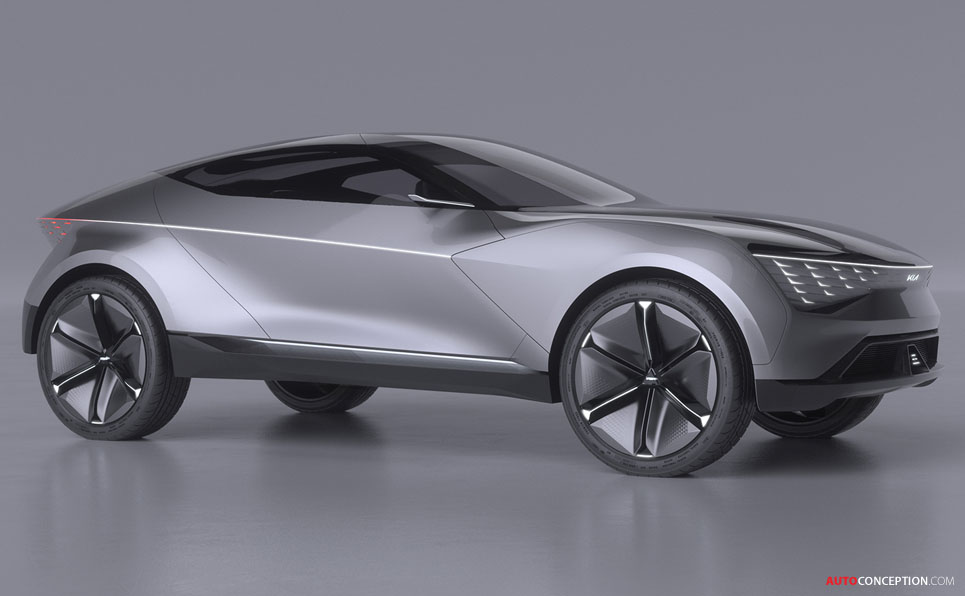 New 'Futuron' Concept Previews Kia's Future EV Design Language