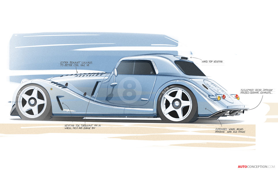 Morgan Releases Design Sketches of New Limited-Edition 'Plus 8 GTR'