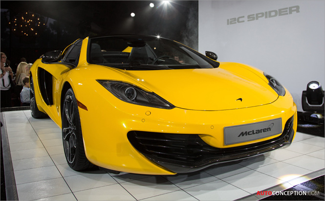 McLaren Stages Global Unveil of 12C Spider at Gooding & Company Preview at Pebble Beach