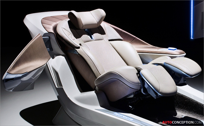 car interior design faurecia showcases new seating trends. Black Bedroom Furniture Sets. Home Design Ideas