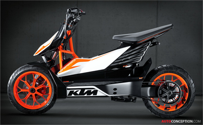 KTM Reveals 'E-SPEED' Scooter Study in Tokyo