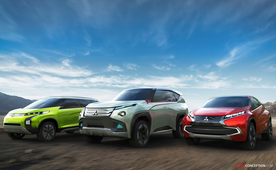 Mitsubishi Reveals New SUV and MPV Concepts – Latest Renderings