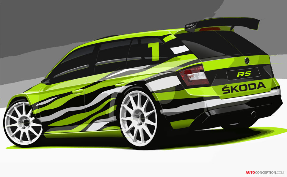 SKODA Fabia R5 Combi Concept Car Revealed Ahead of Wörthersee Show