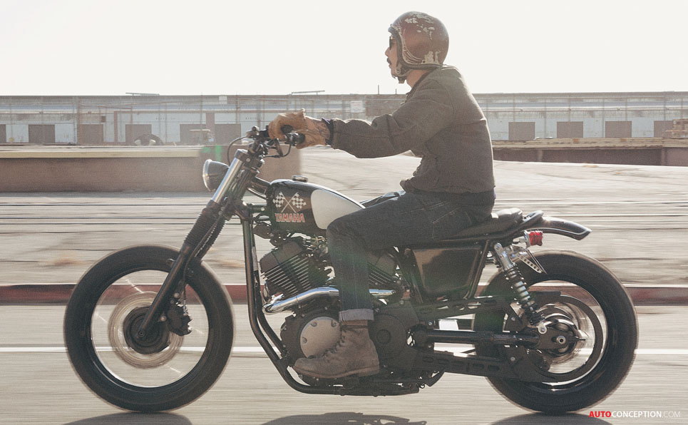 Yamaha Turns to the USA for Yard Built SCR950 'Chequered Scrambler'
