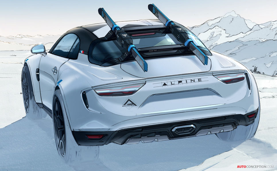 Rally-Inspired Alpine A110 'SportsX' Concept Unveiled